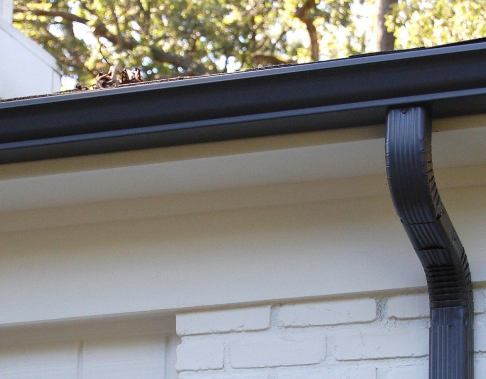 eavestrough closeup