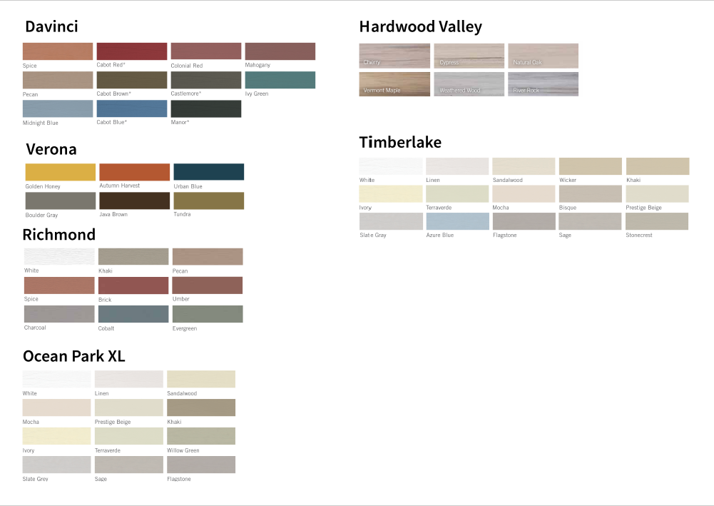 vinyl colour options pdf