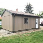 Shed Downspout Installation