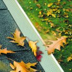 gutter guard keeping out leaves