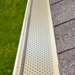 gutter guard at roof level
